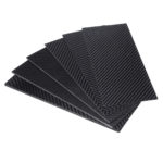 New 100x250x(0.5-5)mm Black Matte Twill Carbon Fiber Plate Sheet Board Weave Carbon Fiber Pannel Various Thickness