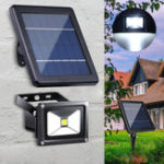 New 10W Solar Power LED Flood Light Outdoor Garden Wall Spotlight Waterproof