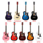 New 38 Inch 6 Strings Acoustic Guitar Wooden Guitar For Beginners With Guitar Bag/Pick/Strap/Pipe
