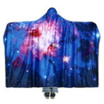 New 150x200cm Starry Sky Hooded Blankets Wearable Soft Winter Bed Cover Halloween