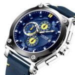 New MEGIR 2098 Sports Chronograph Date Leather Men Quartz Watch