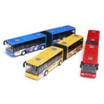 New Blue/Red/Green 1:64 18cm Baby Pull Back Shuttle Bus Diecast Model Vehicle Kids Toy