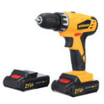 New 21VF Electric Cordless Power Drill Double Speed Screwdriver 18+1 Torque W/ 1 or 2 Li-Ion Battery