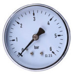 New TS-60-6 Mini High Accuracy Pressure Gauge 0-6 bar 1/4 Manometer Pressure Tester For Fuel Air Oil Liquid Water