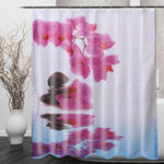 New 180*200cm Bathroom Shower Curtain Purple Flower Waterproof Bath Curtain