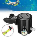 New Diving Oxygen Tank Cylinder Adapter Valve Head Set Replacement Mouthpiece Diving Accessories