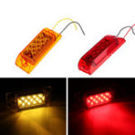 New 12V 24V LED Trailer Rear Tail Side Marker Lamp Light Car Truck Red/Yellow Universal