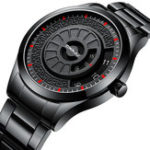 New CRRJU 2141 Creative Stainless Steel  Casual Style Men Watch