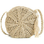 New Straw Tassel Round Bag Shoulder Bag For Women
