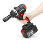 New 128VF 16000mah Brushless Electric Wrench Power Wrench Tool 330N.m Cordless Wrench Kit