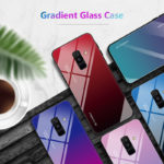 New Bakeey Gradient Tempered Glass Protective Case For Samsung Galaxy Note 9/Note 8/S9/S9 Plus/S8/S8 Plus