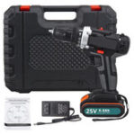 New 25V Multifunctional Electric Drill High-Power Household Electric Screwdriver 2.2Ah Lithium Battery Power Drills