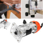 New 1200W 220V 6.35mm 1/4″ Electric Hand Trimmer Wood Laminate Palm Router Joiner Tool