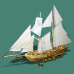 New 1:130 Scale Sailing Boats Model Assembly Wooden Sail Boat Home Decorations