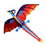 New 55 Inches Cute Classical Dragon Kite 140cm x 120cm Single Line Kite With Tail