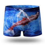 New Printing Boxer Drawstring Water Repellent Swimming Trunks