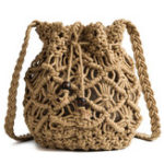 New Women Hollow Woven Crossbody Bag Straw Bag