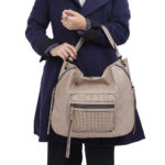 New Brenice Women Faux Leather Designer Woven Stitching Tote Bag