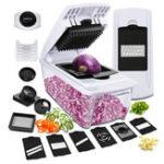 New Mandoline Slicer, Godmorn ALL IN 1 Professional Vegetable Chopper Dicer Slicer Cutter, Onion Potato Chopper, Spiralizer Cutter, Egg Separator, Juicer,