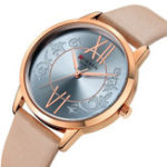 New CURREN 9049 Analog Casual Style Leather Strap Women Watch