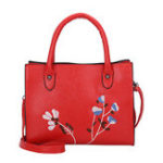 New Women Embroidery Tote Handbag Leisure PU Crossbody Bag
