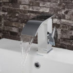 New Luxury Single Lever Bathroom Vanity Basin Sink Faucet Waterfall Mono Mixer Tap