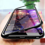 New Bakeey™ Magnetic Flip Metal Frame Tempered Glass Full Body Protective Case for Xiaomi Mi8 Mi 8 Pro / Mi8 Mi 8 Explorer Edition