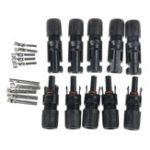 New 5 Pairs PV Solar Panel Cable MC4 Connectors Male & Female Waterproof IP67 for Photovoltaic Solar System