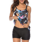 New Split Printing Skirted TankiniS Bathing Suits