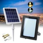 New Solar Power 150 LED Flood Light Outdoor Garden Path Lamp Light Control Manual
