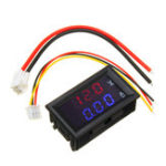New 3pcs Mini Digital Voltmeter Ammeter DC 100V 10A Panel Amp Volt Voltage Current Meter Tester 0.56″ Blue Red Dual LED Display
