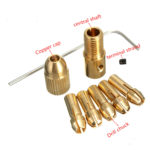 New 8pcs 0.5-3mm Small Electric Drill Chuck Collet Set Micro Twist Drill Chuck Set