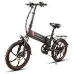 New Samebike XW-20ZC 350W Smart Folding Electric Bike 35km/h Max. Speed 48V 10AH E-Bike