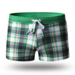 New Checked Boxer Drawstring Water Repellent Board Shorts