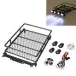 New Professinal Austar Roof Luggage Carrier With LED Light Bar For 1/10 1/8 RC Car R7N0
