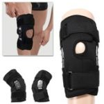 New Double Hinged Full Knee Support Brace Pad Adjustable Aluminium Support Joint Protection