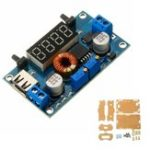 New DC 5-36V to DC 1.25-32V 5A Constant Voltage Constant Current Step Down Power Supply Module with Display and Shell