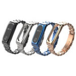 New Mijobs Classic Three-bead Wristband Replacement Metal Watch Band for Xiaomi mi band 2 Smart Watch