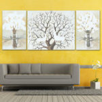 New 3PCS Deer Modern Canvas Print Paintings Wall Art Pictures Home Decoration Unframed