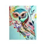 New 5D Diamond Painting Rhinestone Full Mosaic Craft Colorful Owl Cross Stitch Home Wall Decorations Xmas Gifts
