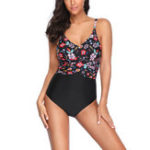 New One-Piece Printed Beach Wear Tight Swimwear