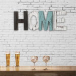 New Retro Wood Sign HOME Decorative Ornament Cutout Wood Words Home Multicolors Decorations