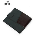 New Men RFID Genuine Leather Patchwork Wallet