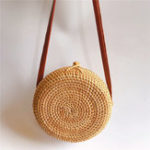 New Women Straw Hollow Out Crossbody Bag Travel Shoulder Bag