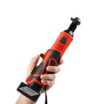 """New 26V Rechargeable Cordless Electric Ratchet Wrench Right Angle Wrench 3/8"""" Drive"""