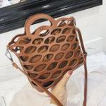 New Women Plain Hollow Out Bucket Bag Shoulder Bag