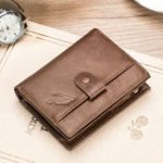 New RFID Antimagnetic Vintage Genuine Leather 12 Card Slots Bag