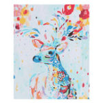 New No Frame Canvas Paint Colorful Deer Elk Digital Diy Oil Paintings By Numbers Animals Modern Paint Home Wall Hanging Decorations