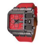New OULM 3364 Fashionable  Square Dial Creative Watch