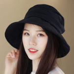 New Women Summer Vintage Polyester UV Protection Bucket Cap